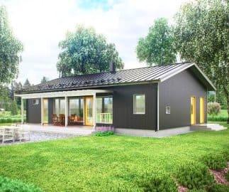 Финский проект одноэтажного каркасного дома