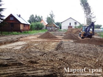 Расчистка участка под строительство фундамента