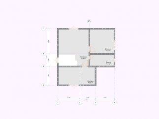 План мансардного этажа каркасного дома «МС-118»
