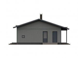 Фасад 3 проекта финского каркасного дома «МС-120»