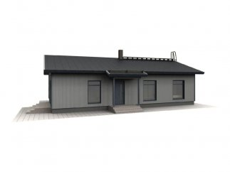 Фасад 1 проекта финского каркасного дома «МС-120»