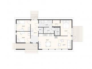 План проекта финского каркасного дома «МС-110»