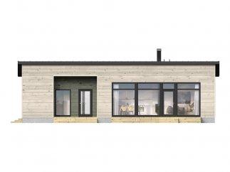 Фасад 3 проекта финского каркасного дома «МС-100»