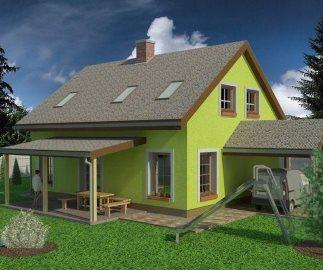 Проект дома с мансардой 10х8 из газобетона